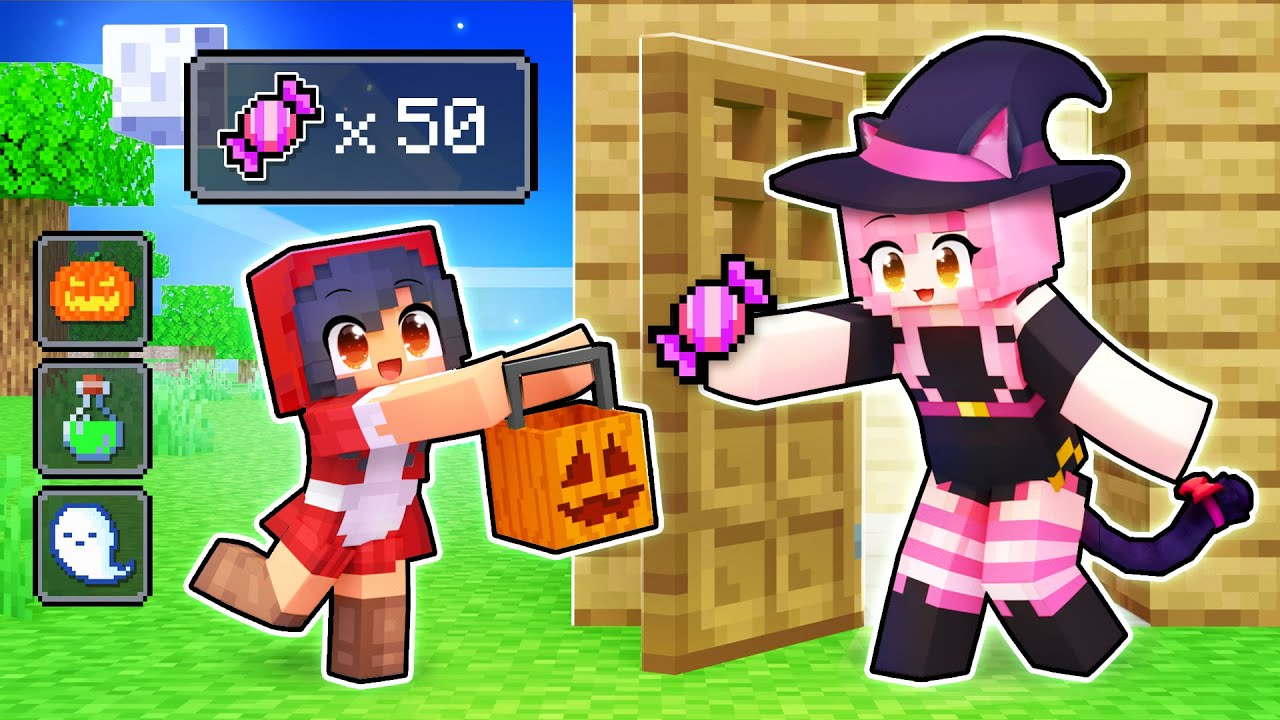 Using The TRICK OR TREAT Mod In Minecraft!