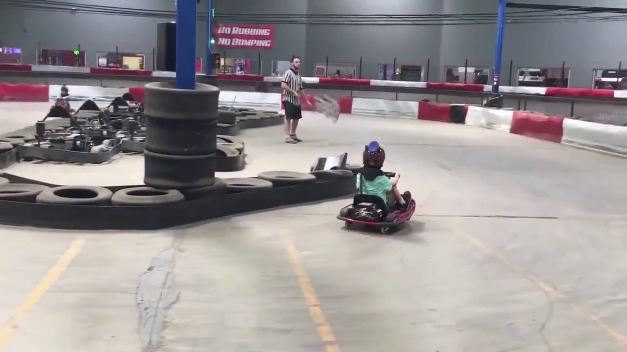 spinning go-kart kid enters a whole new dimension