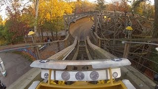 Flying Turns front seat on-ride HD POV Knoebels Amusement Resort