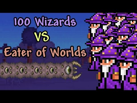 [Terraria] 100 Wizards vs Eater of Worlds