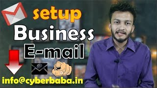 {HINDI} How to set up a Professional Business email using Gmail || Setup Email At Your Domain Name