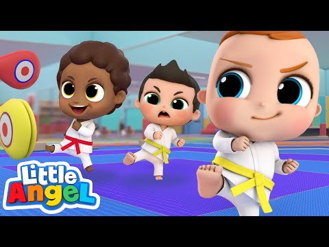 Learning Karate is Fun! | Little Angel Kids Songs & Nursery Rhymes