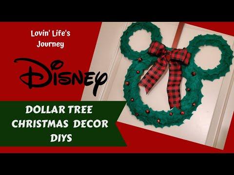 Dollar Tree Disney Christmas Decor DIYs For Less Than $10