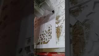 حفر ديكور  زخرفة اسلامية بماكينة رقمية CNC على مادة Forex