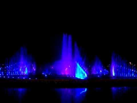 Musical fountain in Perdana Park , Kota Kinabalu, Sabah, Malaysia.