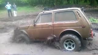 НИВА vs ЛУЖА = фонтан грязи