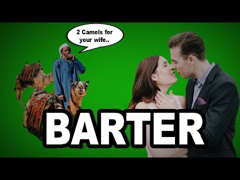 🤝 Learn English Words - BARTER - Meaning, Vocabulary with Pictures and Examples