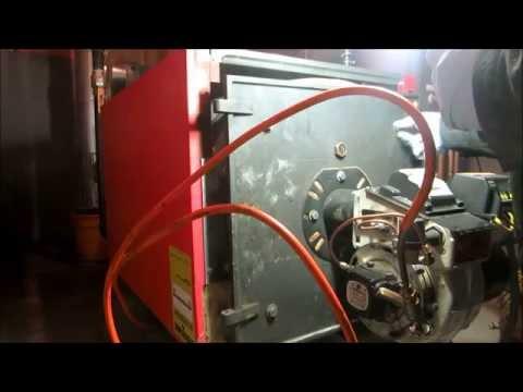 scotch marine boiler with beckett SR burner anual service