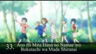 my top 50 anime 2000 ~ 2011