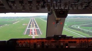 Repeat youtube video Cockpit view - Boeing 747-400F Landing Amsterdam Schiphol