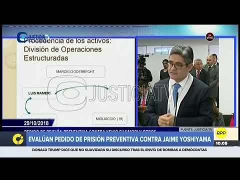 José Domingo Pérez se queda afónico en el quinto día de audiencia de prisión preventiva