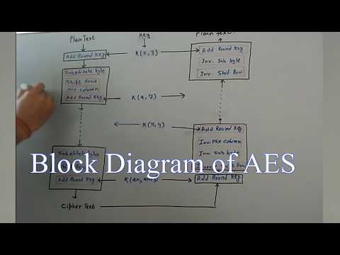 AES Advanced Encryption Standard Block diagram and working principle of AES in cryptography [Hindi]