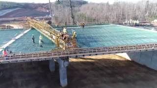 64 ByPass Update- 3/3/17... Pouring Concrete on the Bridge... DJI Phantom 4 Pro
