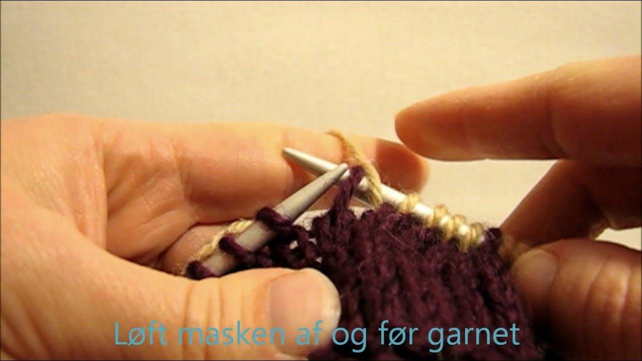 lær at strikke vrang
