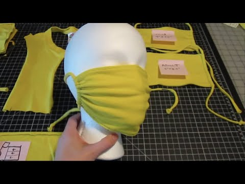 How To Sew A Face Mask From Cotton T-Shirt - PLEASE CHECK OUT MY NEWER VERISON WITH FILTER POCKET