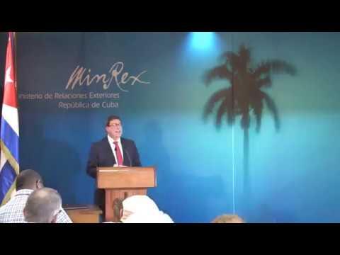 Conferencia de Prensa del Canciller de Cuba Bruno Rodríguez Parrilla