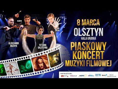 Piaskowy Koncert Muzyki Filmowej W Olsztynie Tetiana Galitsyna, Oleksandr Bozhyk,  VLODYR, Tony Drea