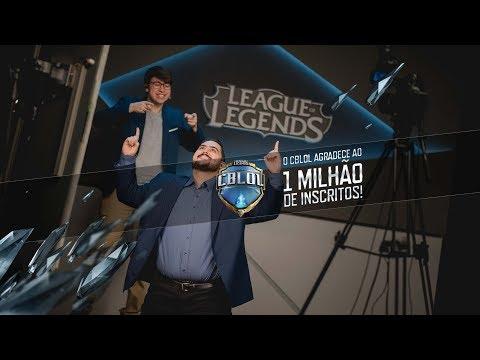 """Batemos 1 MILHÃO de inscritos! Nosso 1 MILHÃO de """"Obrigados""""! =) - LoL Esports BR"""