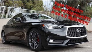 Infiniti Q60 Red Sport 400 Twin Turbo with 400 Horsepower!  0-60 HELLA FAST! Full Review - Ran D