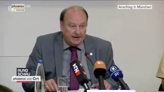 Anschlag in München: Pressekonferenz der Polizei am 23.07.2016