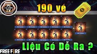 [Garena Free Fire] 190 Vé Free Phá Nát Vòng Quay Vàng Lấy Trang Phục Phù Thủy Voodoo | Lưu Trung TV