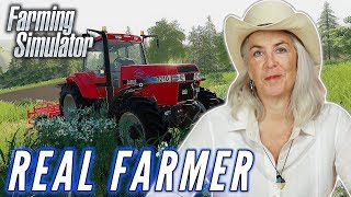 A Professional Farmer Tends To Her Farm In Farming Simulator • Professionals Play