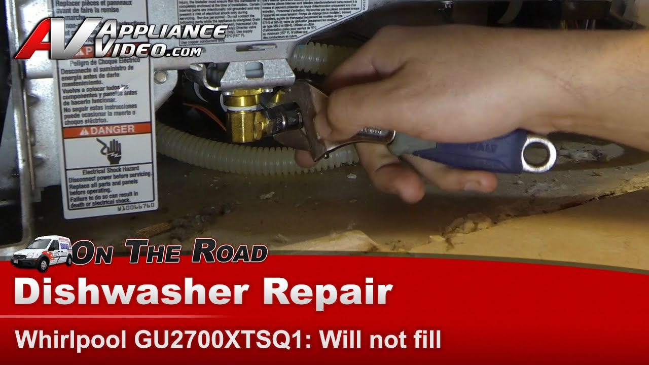 Dishwasher Will Not Fill With Water   Diagnostic U0026 Repair  Whirlpool,  Maytag, KitchenAid U0026 Roper   YouTube