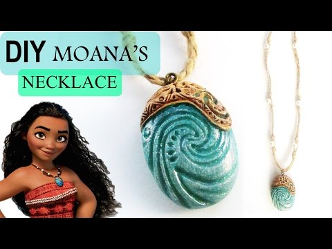 DIY Moana Heart of Te Fiti Necklace || Polymer Clay Tutorial