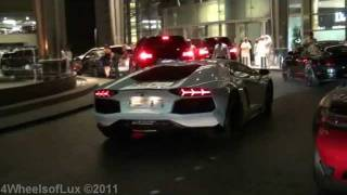 Dubai Mall - Aventador, SLS Brabus, SLR McLaren, SL65 AMG BS, 599 GTB & More!