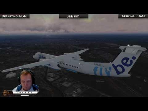 [P3D] Visiting Storm Doris at Amsterdam Schipol | Flybe Dash-8 Q400