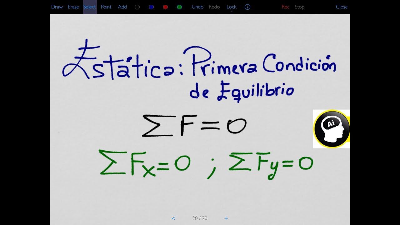 Estática. Primera condición de equilibrio - YouTube