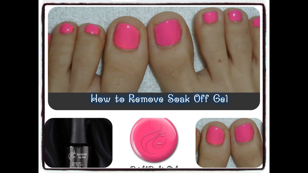 How to Remove Soak Off Gel from Toes - YouTube