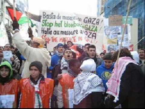 manifestation pour la paix en palestine - janv09 - FIRE brussels sports movement