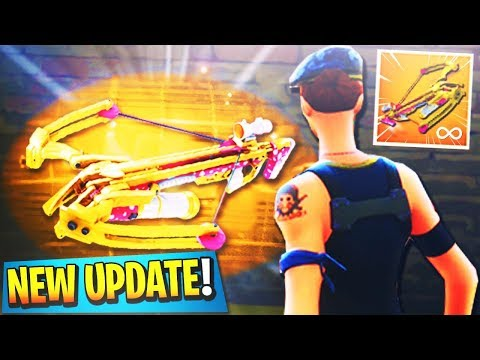 "Fortnite *NEW* ""Crossbow"" GAMEPLAY UPDATE! - NEW VALENTINES DAY UPDATE! (Fortnite Battle Royale) thumbnail"