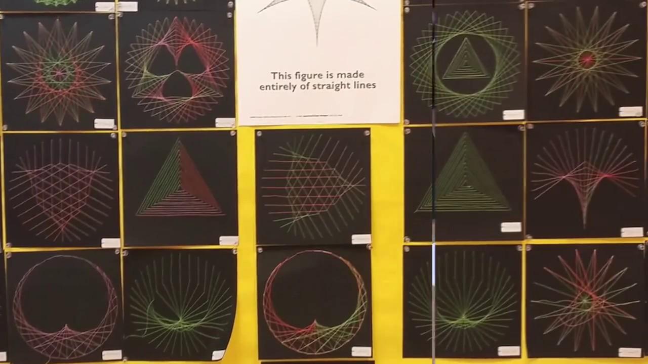 Geometric String Art Math Project Youtube