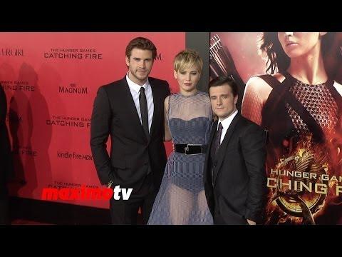 "Jennifer Lawrence, Liam Hemsworth, Josh Hutcherson ""The Hunger Games: Catching Fire"" LA Premiere"
