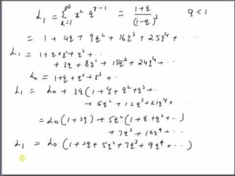 Sum of geometric series weighted by squares of Natural numbers