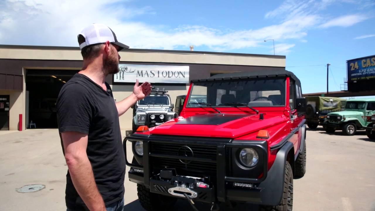 Long Wheelbase Softtop G Wagon Cabrio Build