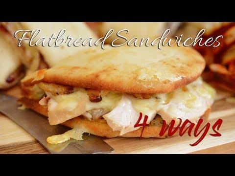 Flatbread Rotisserie Chicken Sandwiches | Easy Meals