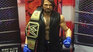 wwe aj styles mattel elite series 47 smackdown live wrestling figure review
