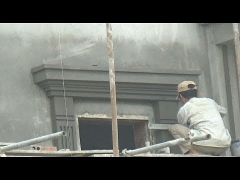 Decorating Front Wall Of House With Plaster Artworks Youtube