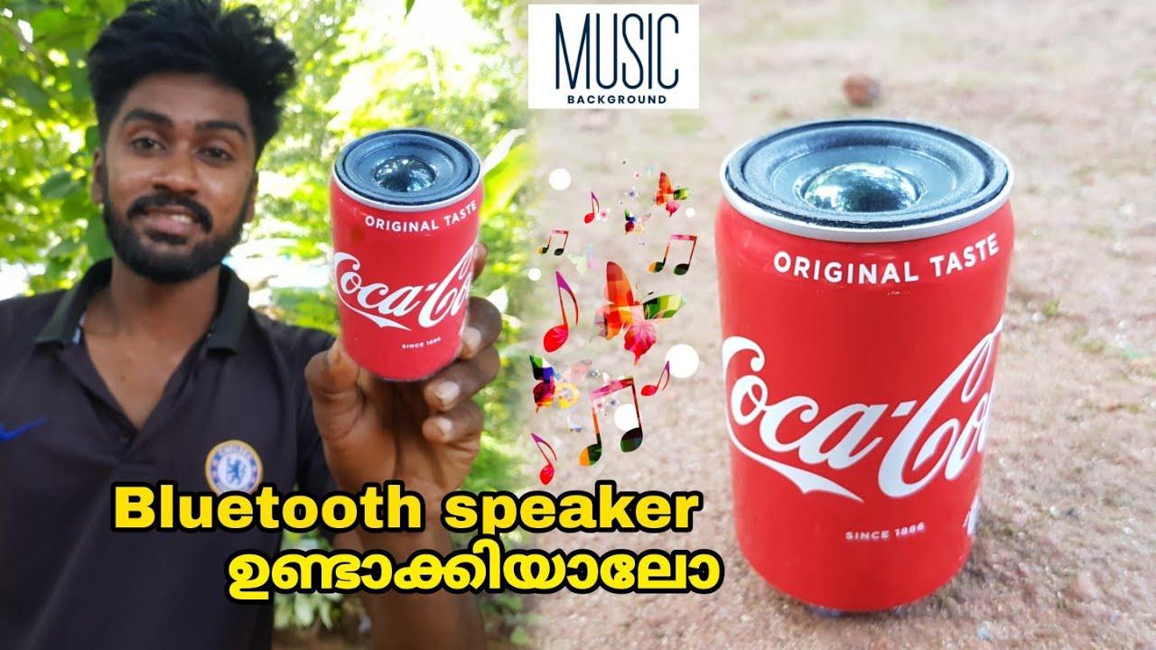coca cola can speaker making bluetooth speaker making in malayalam pvc speaker lifehack