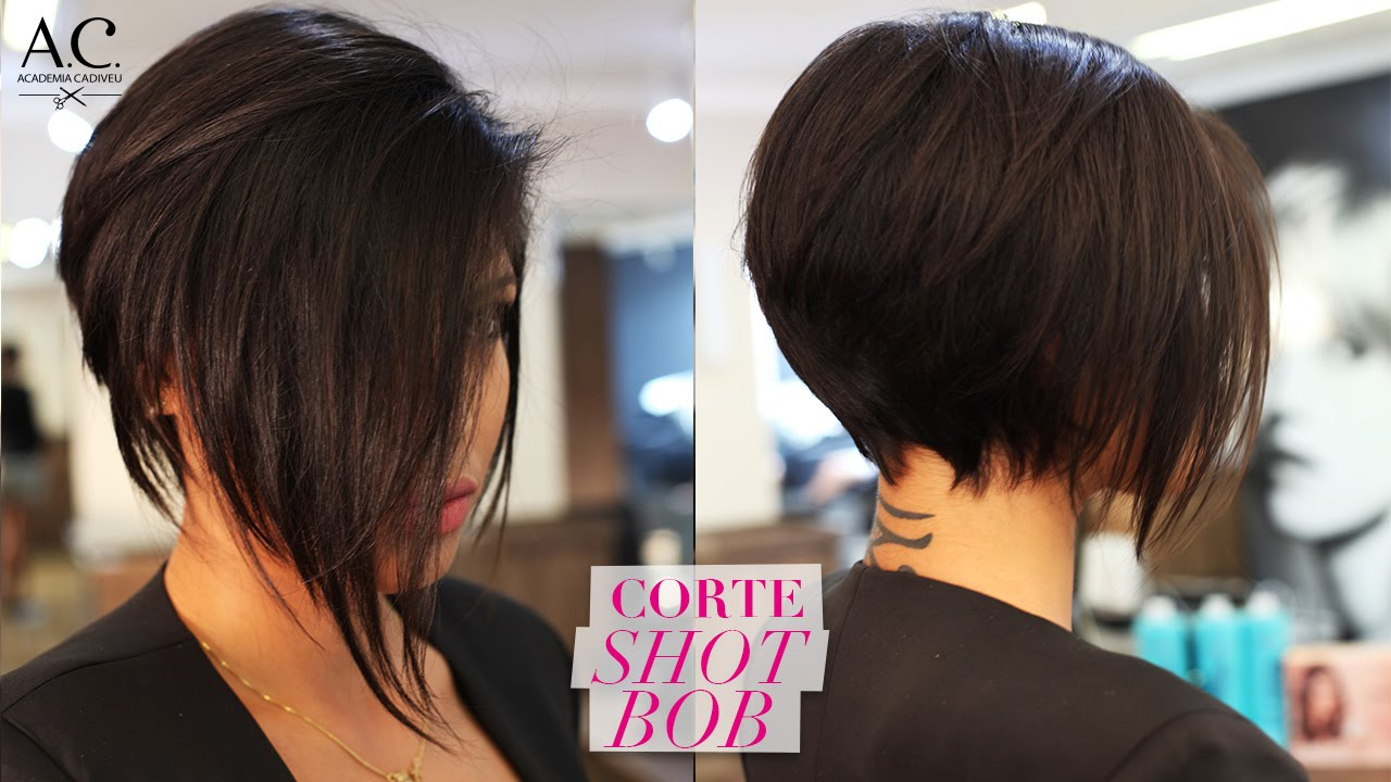 COMO FAZER CORTE SHORT BOB  YouTube - Black Short Hairstyles With Bangs