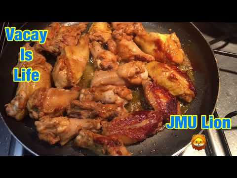 Mouth Watering Pan Cooked Chicken Wings