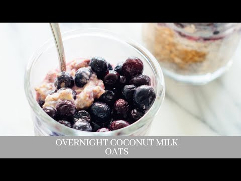 Overnight Coconut Milk Oats