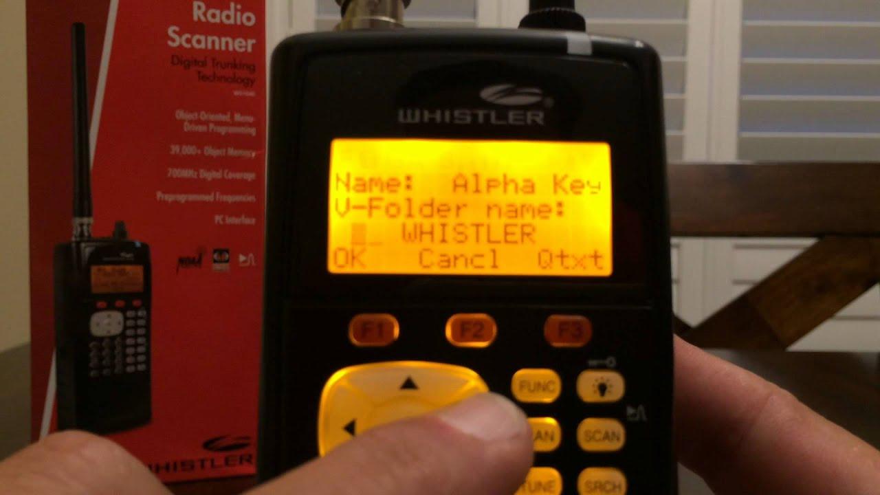 Whistler WS1040 V-Scanner Storage Programming and Operation