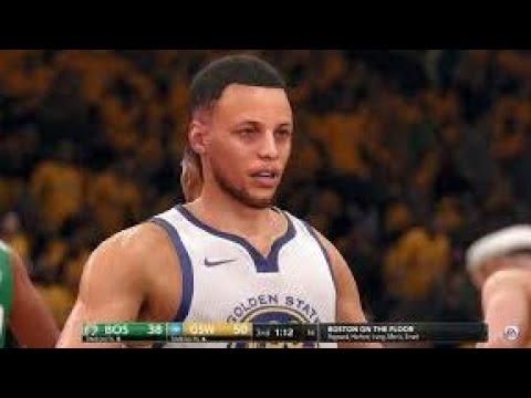 NBA LIVE 18 Patch 1.06 - Boston Celtics vs Golden State Warriors - 4th Qrt - HD