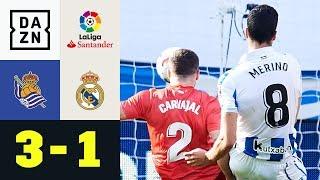 Mikel Merino leitet königliche Pleite ein: Real Sociedad - Real Madrid 3:1 | La Liga | DAZN