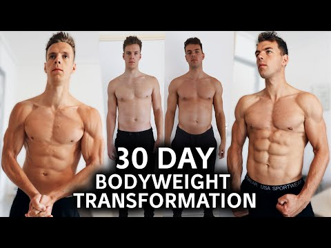 Amazing 30-Day Body Transformation by 2 Brothers | Bodyweight Only!