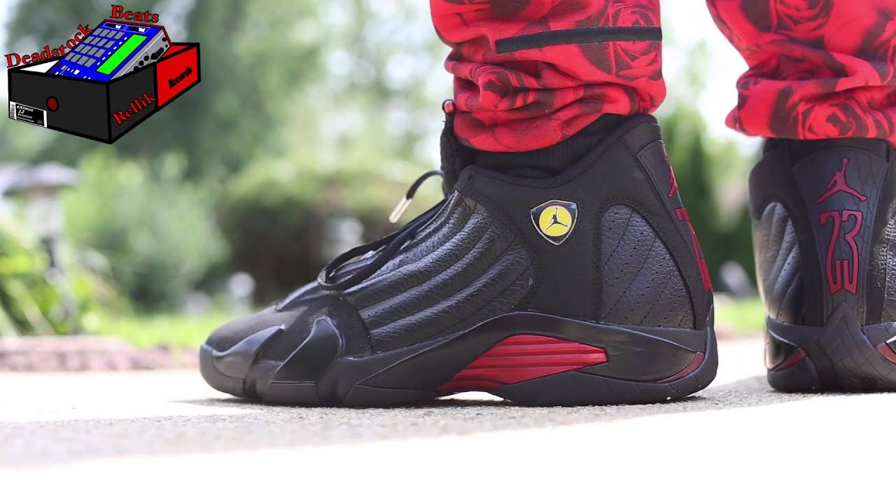 new styles 2db8d 10118 Air Jordan 14 (XIV) Retro – Final   Last Shot (Black   Varsity Red – Black)  On Feet (eXimus Beat)